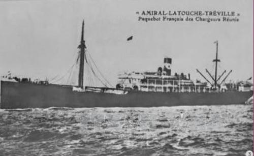 Tàu Latouche Treville, con tàu đã đưa người thanh niên yêu nước Nguyễn Tất Thành ra đi tìm đường cứu nước từ Cảng Sài Gòn. Ảnh: TTXVN