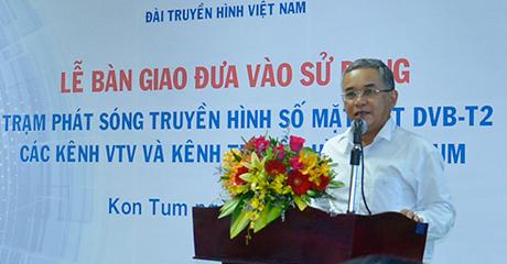 Đồng chí Nguyễn Văn Hùng phát biểu tại buổi lễ