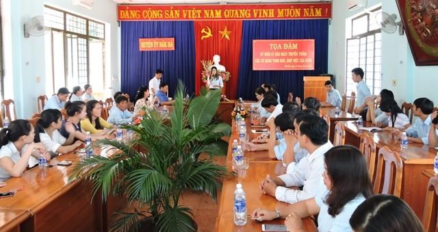 Huyện ủy Đăk Hà tổ chức Tọa đàm kỷ niệm 87 năm Ngày truyền thống các cơ quan tham mưu, giúp việc của Đảng