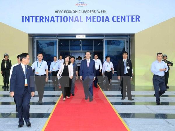 Chủ tịch nước Trần Đại Quang dự Chương trình Tổng duyệt các hoạt động của Tuần lễ Cấp cao APEC 2017. (Ảnh: TTXVN)