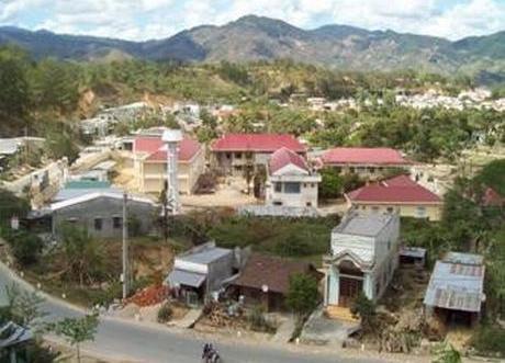 Một góc thị trấn Đăk Glei hôm nay (nguồn ảnh: Internet)