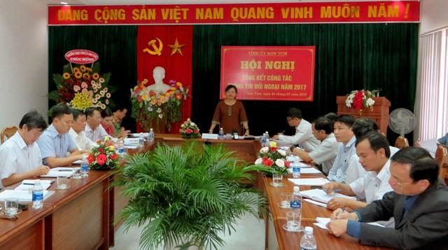 Đồng chí Lê Thị Kim Đơn phát biểu kết luận Hội nghị