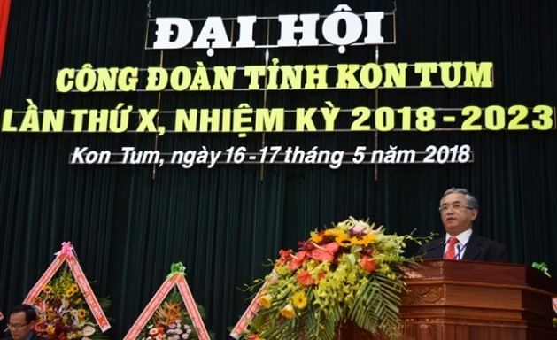 Đồng chí Bí thư Tỉnh ủy Nguyễn Văn Hùng phát biểu chỉ đạo Đại hội