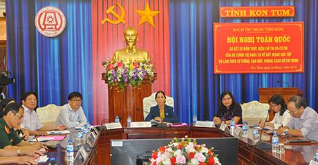 Hội nghị trực tuyến toàn quốc sơ kết 2 năm thực hiện Chỉ thị 05 của Bộ Chính trị khóa XII  điểm cầu tại Kon Tum (nguồn ảnh: baokontum.com.vn)