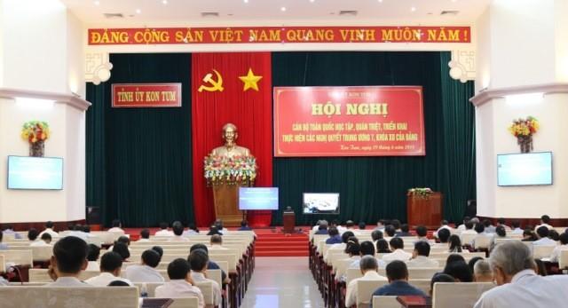 Quang cảnh Hội nghị tại điểm cầu tỉnh Kon Tum