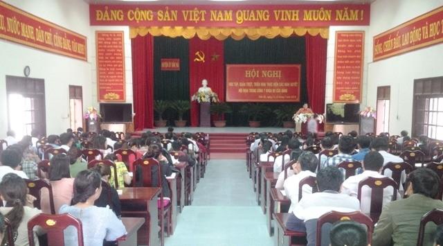 Hội nghị học tập, quán triệt Nghị quyết Hội nghị Trung ương 7 khóa XII tại huyện Đăk Hà