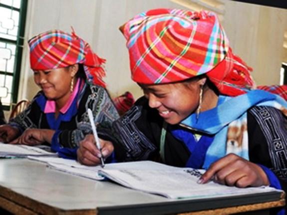 Đào tạo nghề ngắn hạn cho đồng bào dân tộc thiểu số. Ảnh minh họa: TTXVN.