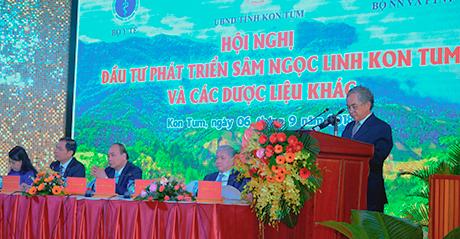 Bí thư Tỉnh ủy Nguyễn Văn Hùng phát biểu khai mạc Hội nghị