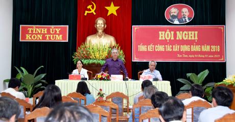 Đồng chí Bí thư Tỉnh ủy Nguyễn Văn Hùng phát biểu chỉ đạo tại hội nghị