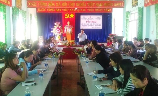 Hội nghị Đối thoại giữa phụ nữ với cấp ủy chính quyền tại huyện Đăk Hà