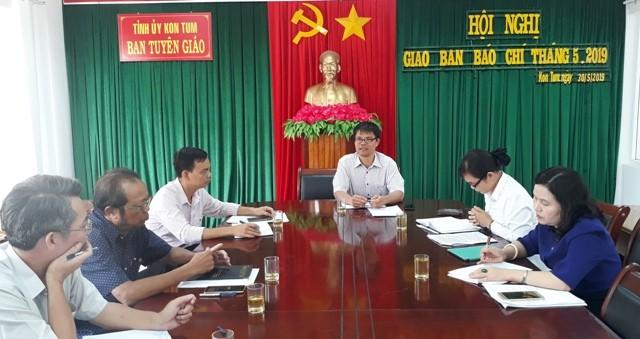 Quang cảnh Hội nghị giao ban báo chí tháng 5-2019