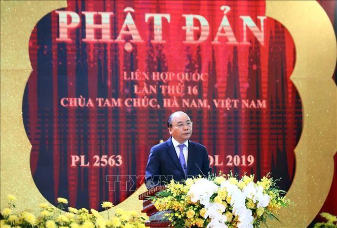 Thủ tướng Chính phủ Nguyễn Xuân Phúc phát biểu chào mừng. Ảnh: Thống Nhất/TTXVN