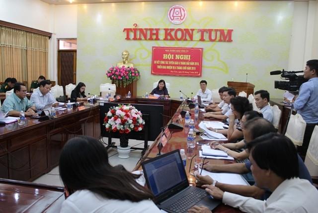 Hội nghị sơ kết công tác Tuyên giáo 6 tháng đầu năm 2019, điểm cầu của tỉnh