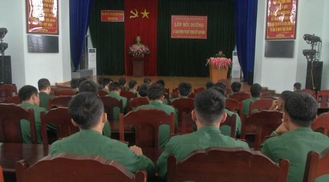 Toàn cảnh khai mạc Lớp bồi dưỡng lý luận chính trị cho đối tượng kết nạp Đảng của Đảng ủy BĐBP tỉnh