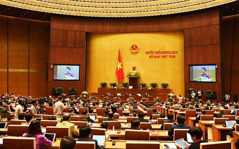 Toàn cảnh phiên khai mạc kỳ họp thứ tám, Quốc hội khóa XIV.