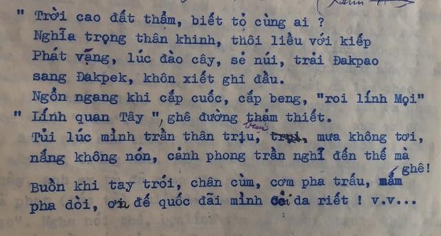 Trích đoạn Bài điếu văn được viết bởi đồng chí Đặng Thái Thuyến (chụp từ tài liệu lịch sử về Nhà ngục Kon Tum)