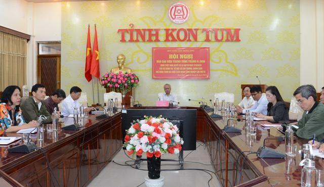 Điểm cầu Hội nghị Báo cáo viên tại tỉnh