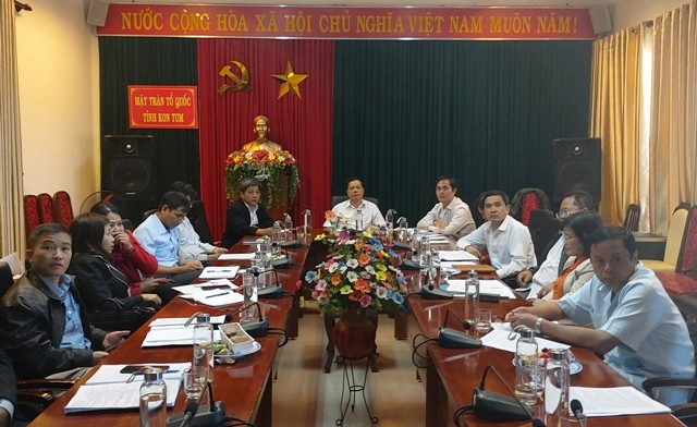 Quang cảnh HN tại điểm cầu tỉnh Kon Tum
