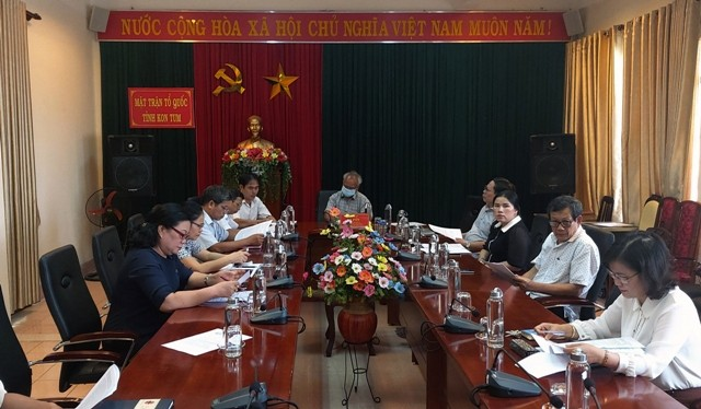 Quang cảnh HN điểm cầu tỉnh Kon Tum