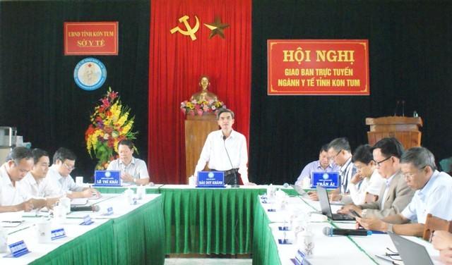 Đồng chí Đào Duy Khánh – Giám đốc Sở Y tế chủ trì Hội nghị