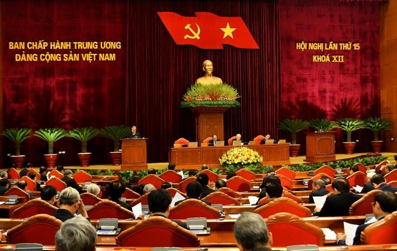 Quang cảnh Hội nghị lần thứ 15 Ban Chấp hành Trung ương Đảng Cộng sản Việt Nam khóa XII.
