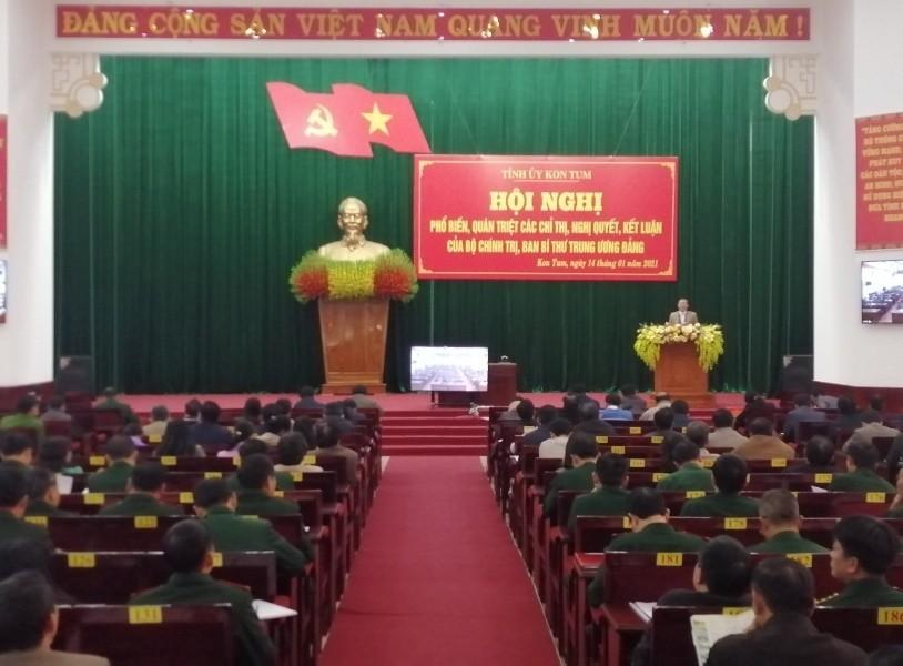 Quang cảnh Hội nghị điểm cầu tại tỉnh