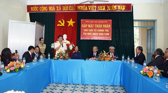 Gặp mặt thân nhân các cựu tù chính trị tại Nhà Ngục Kon Tum
