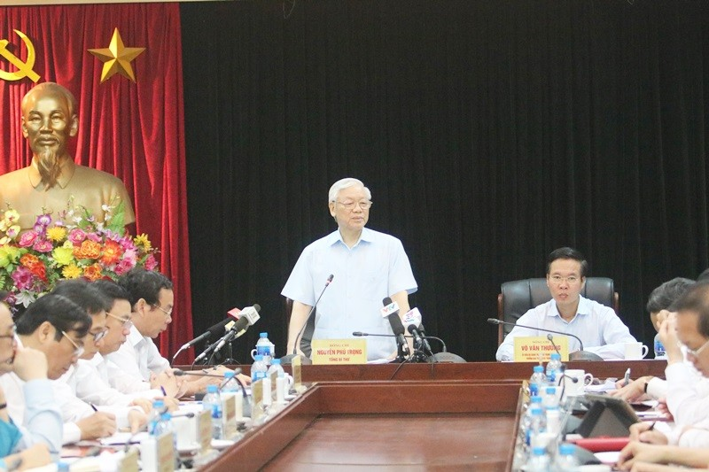 Tổng Bí thư Nguyễn Phú Trọng thăm và làm việc với Ban Tuyên giáo Trung ương: Làm tốt hơn nữa công tác xây dựng Đảng về chính trị tư tưởng