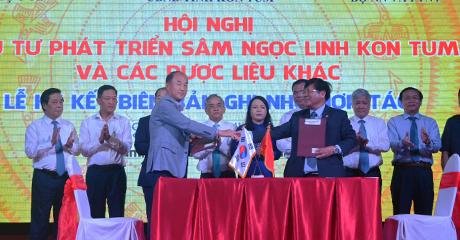 Ký kết biên bản ghi nhớ hợp tác đầu tư giữa UBND tỉnh Kon Tum và doanh nghiệp Hàn Quốc