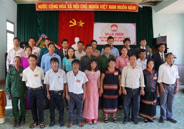 Ủy ban MTTQ Việt Nam xã Xốp ra mắt Đại hội