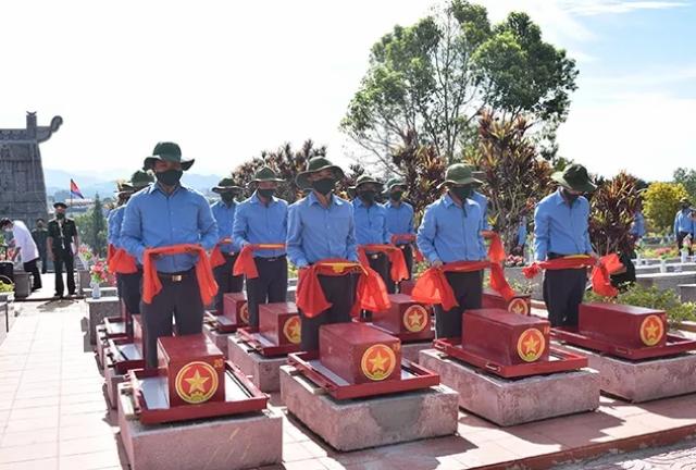 Truy điệu và an táng các liệt sĩ tại Nghĩa trang liệt sĩ huyện Ngọc Hồi