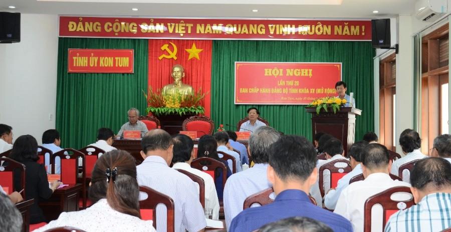 Đồng chí Bí thư Tỉnh ủy Dương Văn Trang phát biểu kết luận Hội nghị. Ảnh: MT