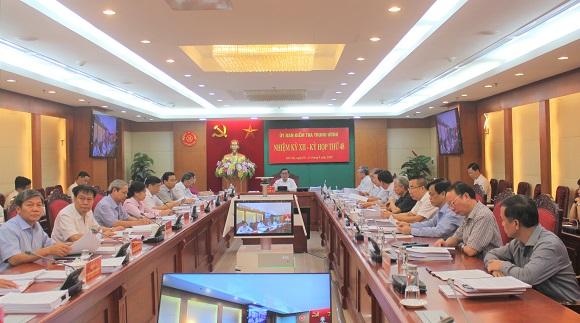 Thông cáo báo chí kỳ họp 48 của Ủy ban Kiểm tra Trung ương