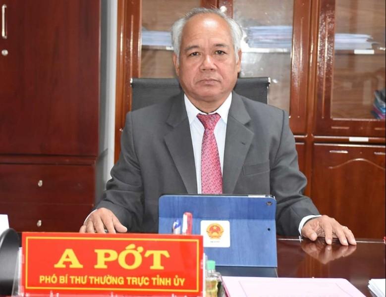 Đồng chí A Pớt - Phó Bí thư Thường trực Tỉnh ủy. Ảnh: V.P