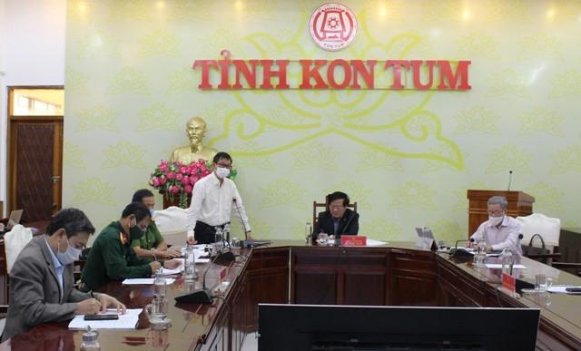 Quang cảnh Hội nghị trực tuyến điểm cầu tại tỉnh