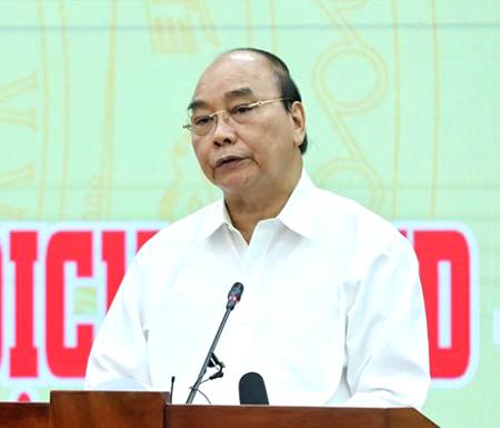 Chủ tịch nước Nguyễn Xuân Phúc phát biểu tại buổi lễ. Ảnh:VGP/Nguyễn Hoàng