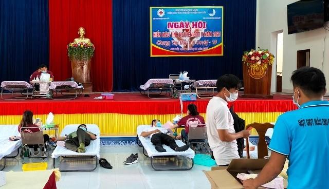 Ngày hội Hiến máu đợt II-2021 huyện Kon Rẫy