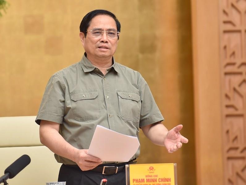 Thủ tướng Chính phủ Phạm Minh Chính: Phòng dịch tốt thì không phải chống dịch; một đồng phòng dịch hiệu quả thì không mất hàng triệu đồng chống dịch, chưa kể mất mát về con người và tổn thất khác - Ảnh: VGP